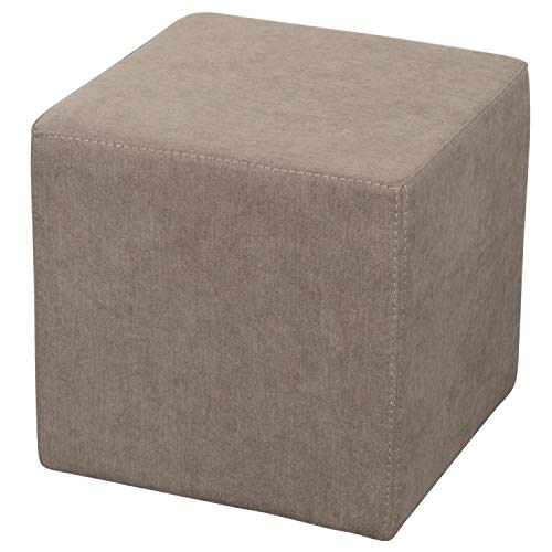 Staboos Sitzwürfel 42cm - Hochwertiger Sitzhocker Pflegeleichter Pouf Hocker - Sitzpouf mit nur 4kg - Sitzcube als perfekte Sitzgelegenheit (Coral_25)