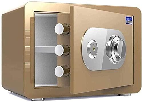 Caja de cerradura a prueba de fuego de acero electrónico Cajas fuertes de gabinete Caja de seguridad para el hogar con caja de dinero para llaves Almacenamiento de adultos Caja de alarma personal