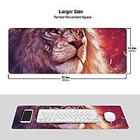 ライオン 光 模様 マウスパッド キーボードパッド 滑らかマウスパッド ゲーミングパッド 大型 オフィス 家庭用