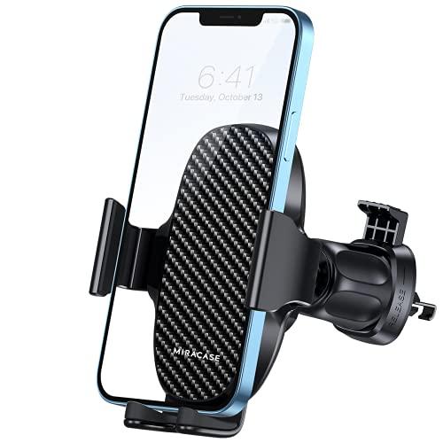 Miracase Handyhalterung Auto Handyhalter fürs Auto Lüftung Universale KFZ Smartphone Halter Kompatibel mit iPhone 12/ 12 Mini/ 12 Pro Max/ 11/ SE/ XS/ XR/ 8/ Samsung/ Huawei/ Xiaomi/ LG usw
