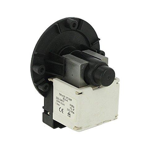 EUROPART Universal Ablaufhahn Pumpe Boden mit TOC und Montageschrauben/Twin Plug-In/unten Positioniert Vorderseite Terminals, 220–240V, 50Hz