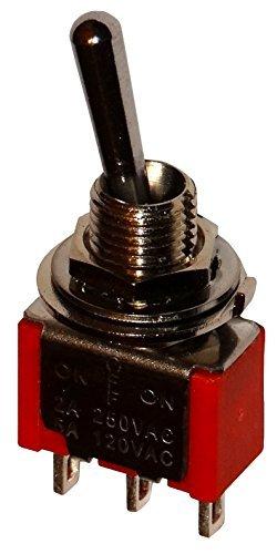 Aerzetix - Unterbrecher, Schalter Switch Kippschalter SP3T ON-OFF-ON 2A/250V 5A/28V Anzahl der stabilen Positionen: 3