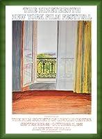 ポスター デビット ホックニー Window Grand Hotel Vittel 1970 額装品 ウッドベーシックフレーム(グリーン)