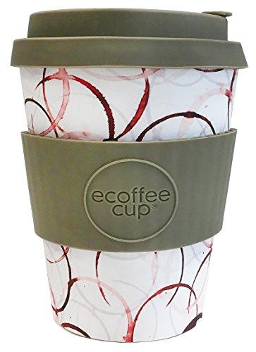 Ecoffee Cup+PROJET chute : queue d'un à vie avec Gris Silicone 12oz