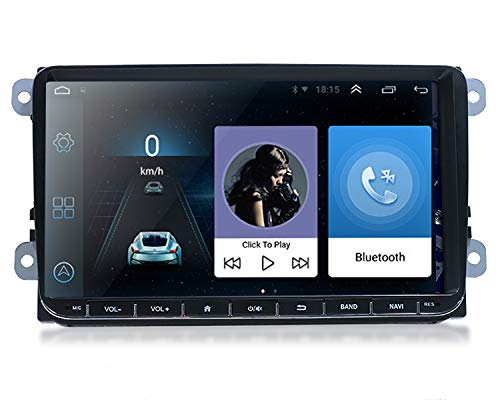 9,0 Zoll Android 9,1 Autoradio mit Navi GPS 2 Din Car Stero Mirrorlink Bluetooth WiFi AM/RDS 16GB Lenkradsteuerung Tuning für VW Skoda SEAT Polo Golf Passat Touran T5 Octavia