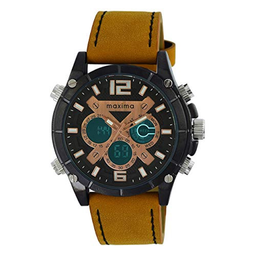 Maxima Analog-Digital Multi-Colour Dial Men's Watch-60291LMAB