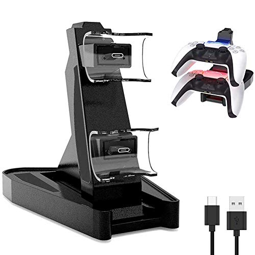 PS5 Controller Charger, Aosai Playstation 5 Controller Charger Charging Docking Station Stand.Dual USB Fast Charging Station & LED Indicator for Sony PS5 Controller