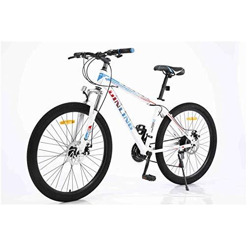 HUIJIAN Comfort Adult Hybrid Bike, Dual Sport Bicycle, Aluminum 26 Inch Wheels, Multiple Colors (WBlue)