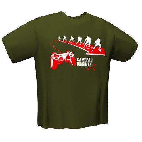 GamersWear GAMEPAD DRIBBLER T-Shirt Olive (XL)