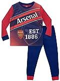 Arsenal FC Football Club Pyjamas, llamativo conjunto de pijamas con el icónico logo del Arsenal en la parte superior y el lema 'EST 1886' para niños 9-10 años Multicolor