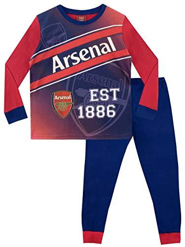"""Arsenal FC Football Club Pyjamas, llamativo conjunto de pijamas con el icónico logo del Arsenal en la parte superior y el lema """"EST 1886"""" para niños 7-8 años Multicolor"""