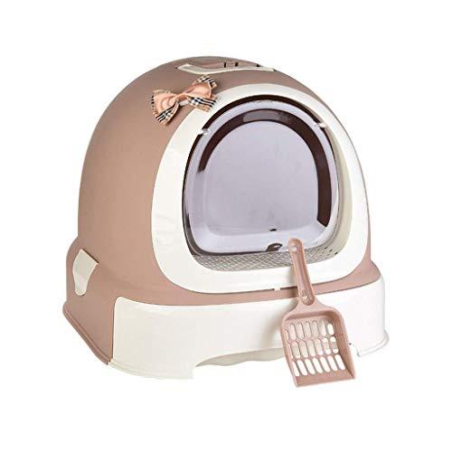 Man-hj Suave Arena for Gatos Mascotas Box/Gato higiénico Papelera (Color: A, Tamaño: 52 * 42 * 40 cm) (Color : A, Size : 52 * 42 * 40cm)
