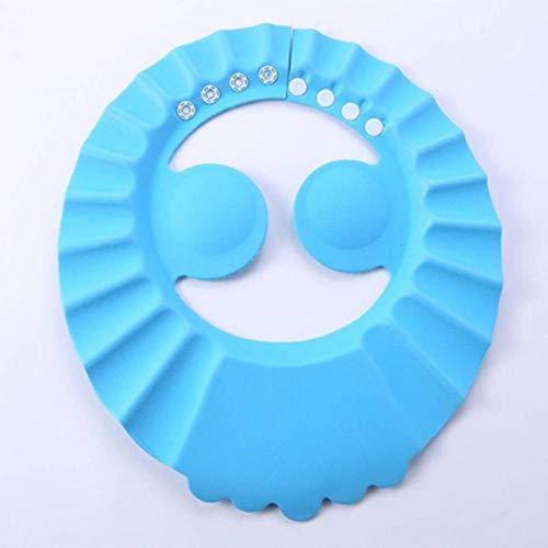 PUJING Babyparty-Kappe Kinder Shampoo-Kappe Sicheres Kinderbad Wasserdichter Visierhut Verstellbar Augen schützen Haare Kinderwaren-Blau