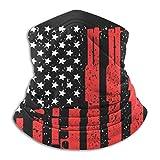 LENGDANU Bandera americana con pistolas de cara completa que...