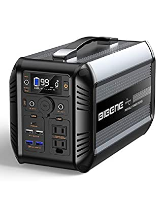 BIBENE 500W Portable Power Station CN505, 614Wh Solar Generator with PD 60W USB-C, 110V Power Supply AC Outlet for Outdoor Camping, 192000mah Lithium Iron Phosphate Battery for Emergency Home (Black)