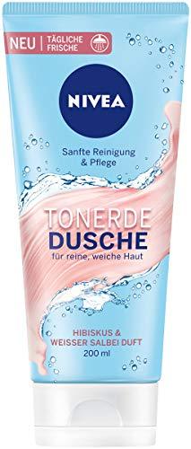 NIVEA Tonerde Dusche Hibiskus & Weißer Salbei Duft im 6er Pack, sanft reinigendes Duschgel mit frischem Duft, Pflegedusche für samtig weiche Haut