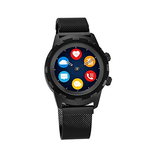 Titan Connected X Black Hybrid Smartwatch for Men with Heart Rate Monitor + Full touch Display + Interchangeable strap - 90116NM01