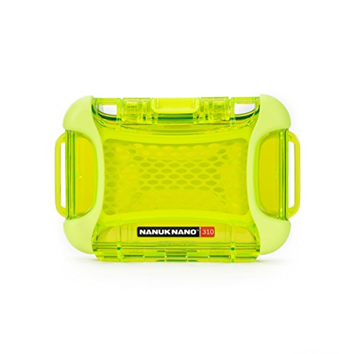 Nanuk 310-0002 Nano Series Waterproof Small Hard Case for Phones, Cameras and Electronics (Lime)