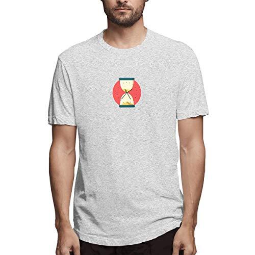 Hemd Sanduhr Zeituhr Clip Art Timing Trichter Sand Afcfb Herren Baumwolle lässig T-Shirt