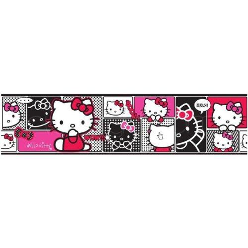 Original Hello Kitty Selbstklebende Borte Bordüre 5 Meter x 12,5 cm Tapete