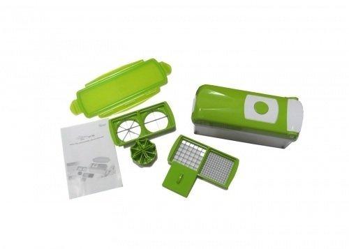 Genius Nicer Dicer Plus - Cortador para patatas y vegetales, color verde
