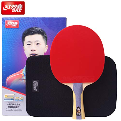%10 OFF! DHS 5 Stars Table Tennis Racket #T5002, The New Version of R5002 in 2019,with Ping Pong R...