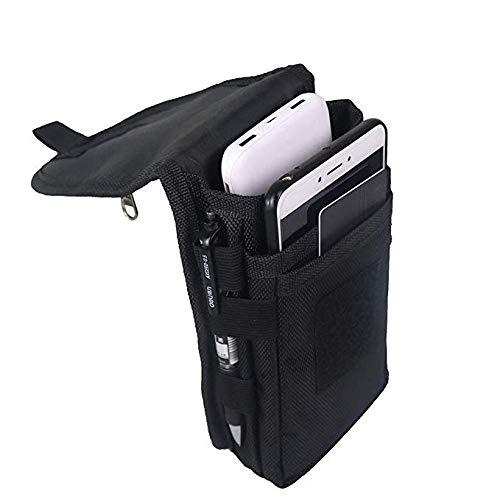 Grande pochette pour smartphone, étui tactique pour téléphone portable, porte-outils, étui de transport tactique avec passant de ceinture pour homme