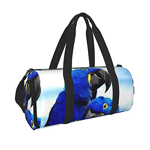 Borsone da viaggio per uomo e donna con tasca bagnata e scomparto per scarpe, colore: blu, Nero , Taglia unica,