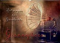 Grammophone - Zeitzeugen der Geschichte (Wandkalender 2022 DIN A2 quer): Faszinierende Bilder der nostalgischen Geraete im Vintage-Look. (Monatskalender, 14 Seiten )