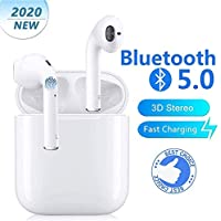Auriculares Bluetooth 5.0 con reducción de Ruido Caja de carga ligeraAuriculares IPX5 Impermeables Funciona con Auriculares Apple Airpods Android/iPhone/Samsung