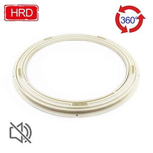 AFDK Lazy Turntable Bearing, runde drehbare Basis, Mute-Drehplatte, Abs-Weichgummimaterial, für Glastisch/Holztisch/Marmortisch,80 cm