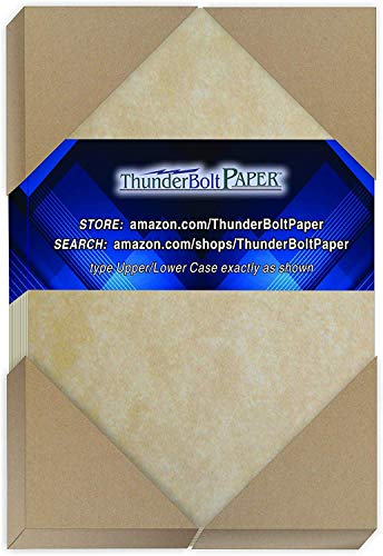 200 Old Age Parchment 65lb Cover Paper Sheets 4 X 6 Inches Cardstock Weight Colored Sheets 4X6 Inches Photo|Card|Frame Size - Printable Parchment Look