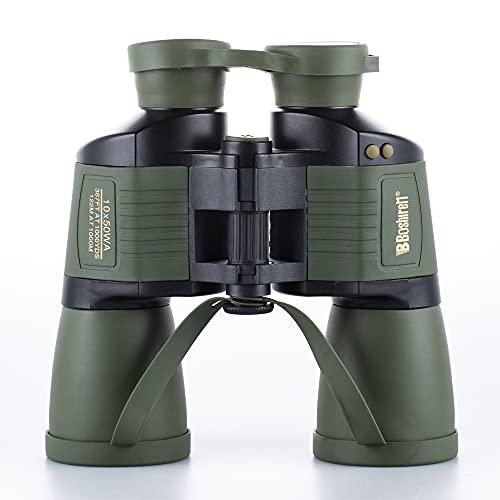 Bueuwe Binoculares 10x50 para Adultos, Prismáticos Profesionales,HD Compactos Prismáticos Binoculares para Observación de Aves, Viajes, Observación de Estrellas, Camping, Conciertos