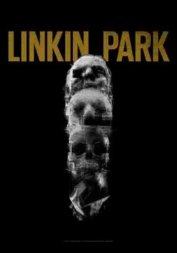 empireposter Linkin Park - Living Skull - Posterflagge 100prozent Polyester - Grösse 75x110 cm