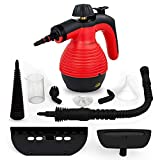 Comforday Multi-Purpose Steam Cleaner, High Pressure Chemical Free Steamer with 9-Piece Accessories, Perfect for Stain Removal, Carpet, Curtains, Car Seats,Floor,Window Cleaning(Upgrade) (Red)