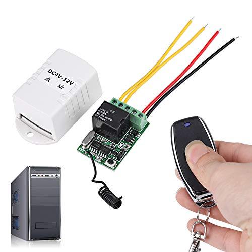 Control remoto inalámbrico Receptor con interruptor de una tecla Alta sensibilidad de recepción Kit de interruptor de luz remoto expandible