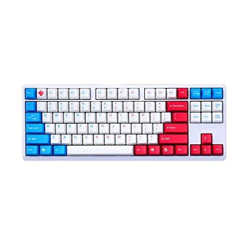 Dongxiao Teclado PC Keyboard Mechanical Gaming Cerey Keyswitches Agua Resistente al Agua Teclado con Cable Durable para Windows y Mac Keyboard (Color : Multi-colored3)