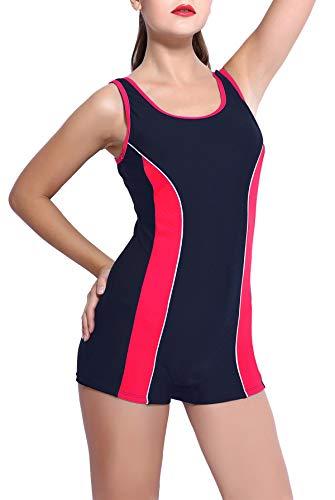 Charmo Wettkampf Schwimmanzug für Damen mit Beinen Bademoden Sportlich Elastisch Badeanzug S