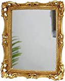 Hanging Rectangular Accent Wall Mirror Antique Gold Decorative Wall Mirror Ornaments 11'' x 15''