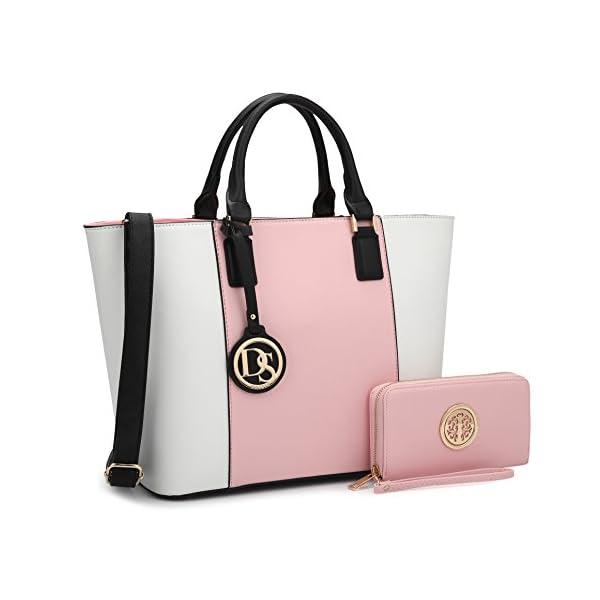 Fashion Shopping DASEIN Women's Handbags Purses Large Tote Shoulder Bag Top Handle Satchel Bag