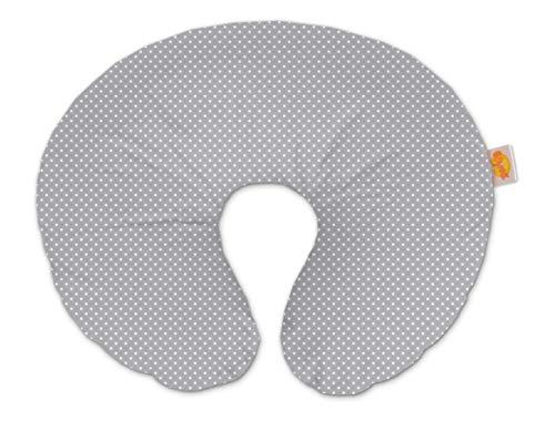 Theraline 59403302 Wynnie - das amerikanische Stillkissen inklusive Bezug, punkte grau