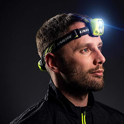 Unilite HL-6R USB Rechargeable Dual Power Twin CREE LED Head Torch | 450 Lumen | Micro USB Charging Cable Included | 1 to 96 Hours Run Time | FREE Car Air Freshener