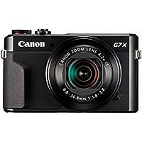 """Canon PowerShot G7 X Mark II - Cámara digital compacta de 20.1 MP (pantalla de 3"""", apertura f/1.8-2.8, zoom óptico de 4.2x, video full HD, WiFi), color negro"""