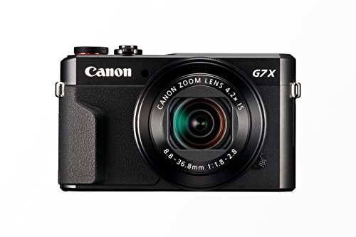 Canon PowerShot G7 X Mark II - Cámara digital compacta de 20.1 MP (pantalla de 3', apertura f/1.8-2.8, zoom óptico de 4.2x, video full HD, WiFi), color negro