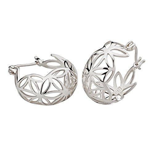 BLUME DES LEBENS/CREOLEN   hochwertige Ohrringe   Echter handgearbeiteter 925 Silberschmuck für Damen o. Herren