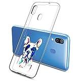 Suhctup Compatible con Samsung Galaxy A71 Funda de TPU Silicona con Dibujos Lindo Animados Diseño Cárcasa Slim Transparente Suave Flexible Antigolpes Proteccion Bumper Caso,Perro