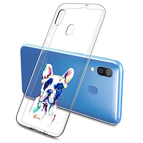 Suhctup Compatible con Samsung Galaxy S7 Edge Funda de TPU Silicona con Dibujos Lindo Animados Diseño Cárcasa Slim Transparente Suave Flexible Antigolpes Proteccion Bumper Caso,Perro