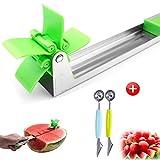 Watermelon Windmill Cutter Slicer, Avocado Knife,Watermelon Slicer,Apple Corer Slicer,Banana Cantaloupe Slicer,Orange Peeler, Auto Stainless Steel Melon Cuber Knife.