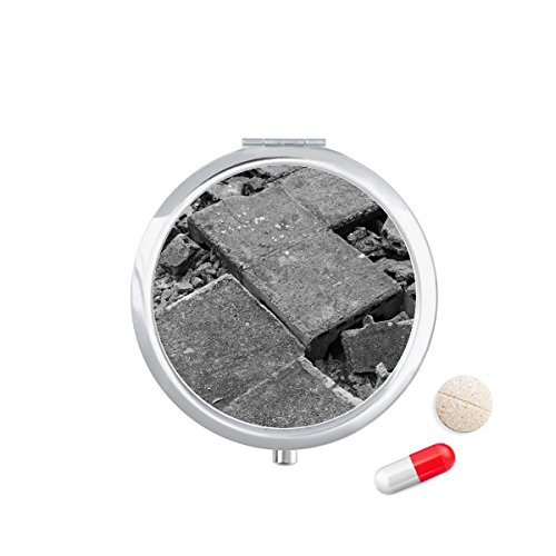 DIYthinker industrieel materiaal modellering fotografie Travel Pocket Pill Case Medicine Drug Opbergdoos Dispenser Spiegel Gift