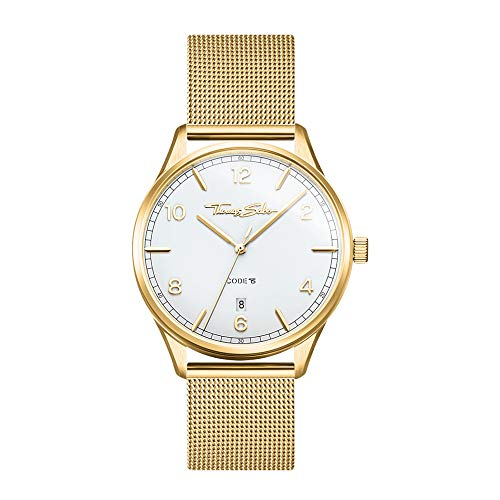 THOMAS SABO Damen Analog Quarz Uhr mit Edelstahl Armband WA0361-264-202-36 mm